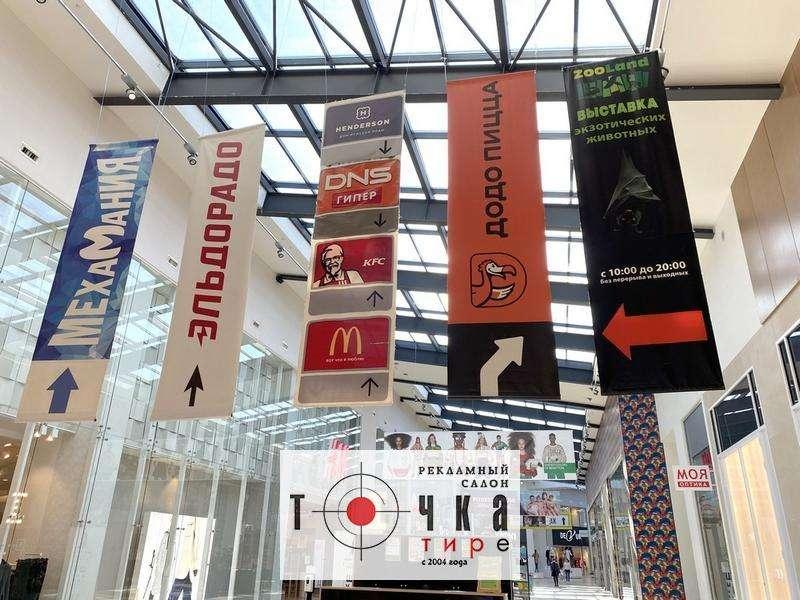 Монтаж баннеров в торговых центрах
