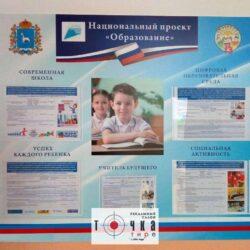 Стенд Национальный проект «Образование»